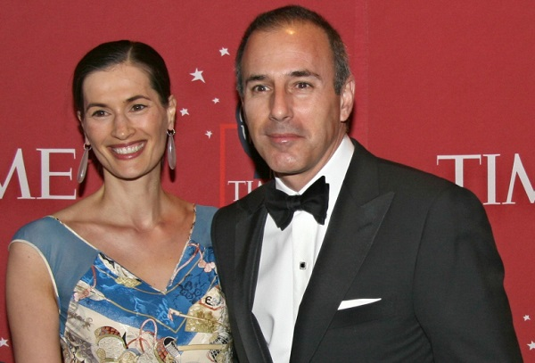 Matt Lauer and his wife Annette Roque