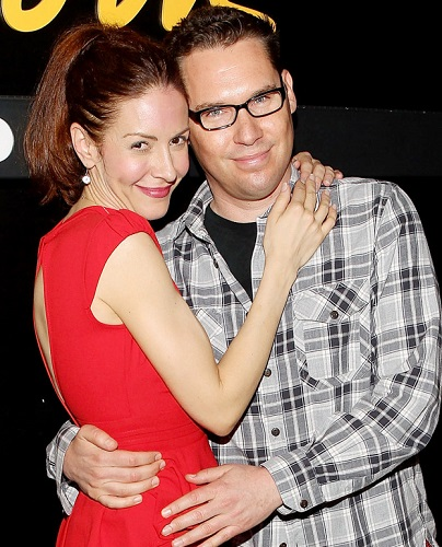 Bryan Singer with his girlfriend Michelle Clunie