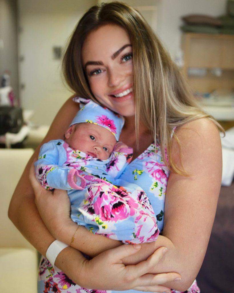 Emily Skye baby Mia Elise Redmond