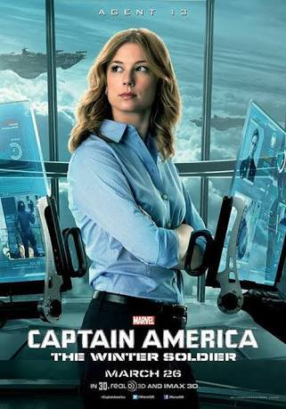 Emily VanCamp in Captain America Winter Soldier