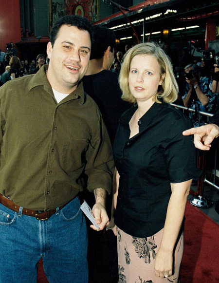 Gina Maddy with her ex-husband Jimmy Kimmel