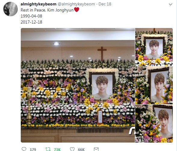 Key shared Jonghyun devastating death on his Twitter