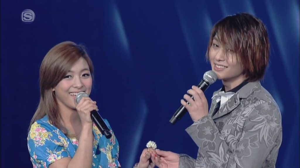 Onew and Luna
