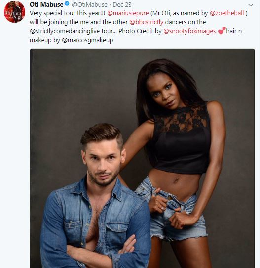 Oti Mabuse going on world dancing tour