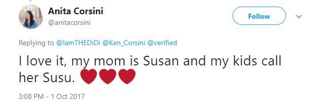 Anita Corsini mother Susan