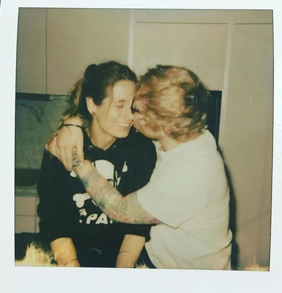 Ed Sheeran with his fiancee Cherry Seaborn
