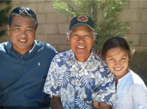 Olivia Rodrigo with her father and grandfather, family