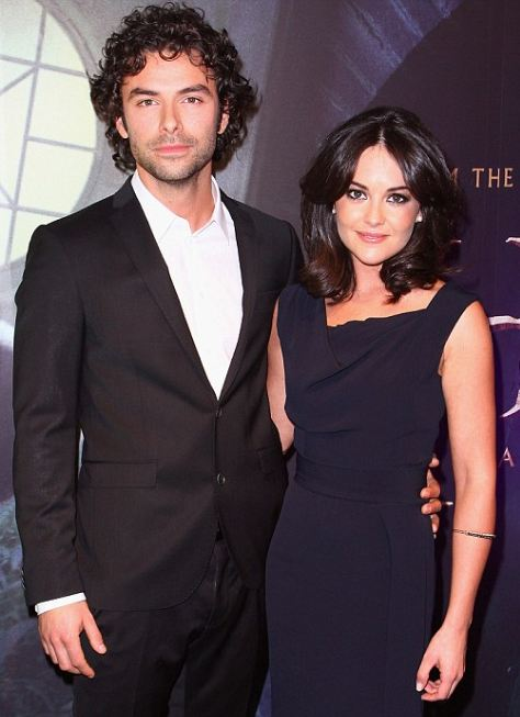 Aidan Turner with actress Sarah Greene