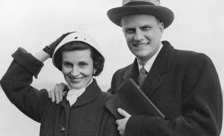 Billy Graham with his wife Ruth Graham