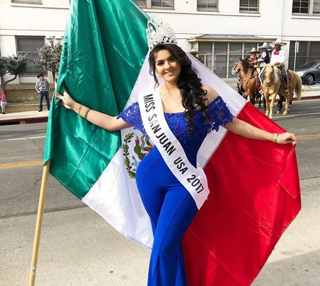 Graciela Montes with Miss San Juan USA 2017 ribbon