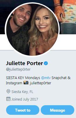 Juliette Porter twitter profile picture
