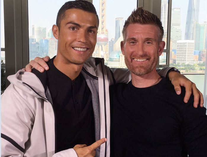 Marty Smith with football star Cristiano Ronaldo