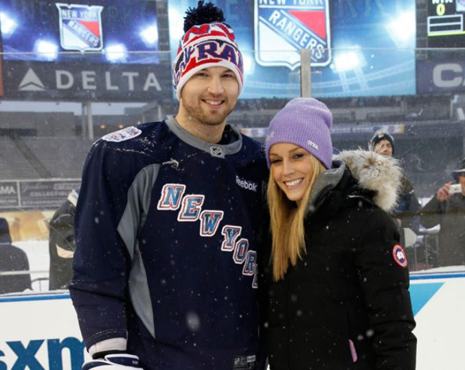 Rick Nash with his wife Jessica Nash