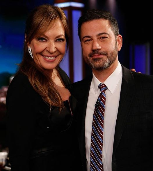 Allison Janney with Jimmy Kimmel