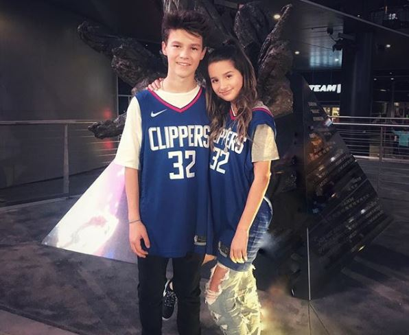 Annie LeBlanc with alleged boyfriend Hayden Summerall