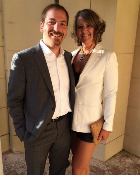 Chuck Todd with his wife Kristian Denny Todd