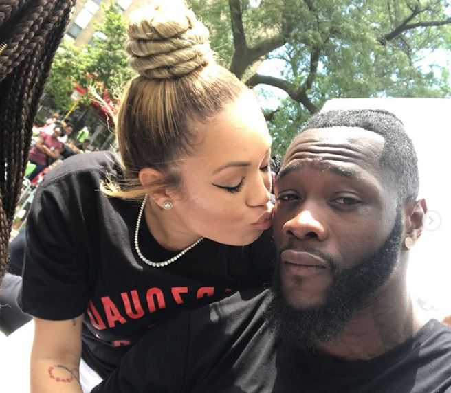 Deontay Wilder with his new girlfriend Telli Swift