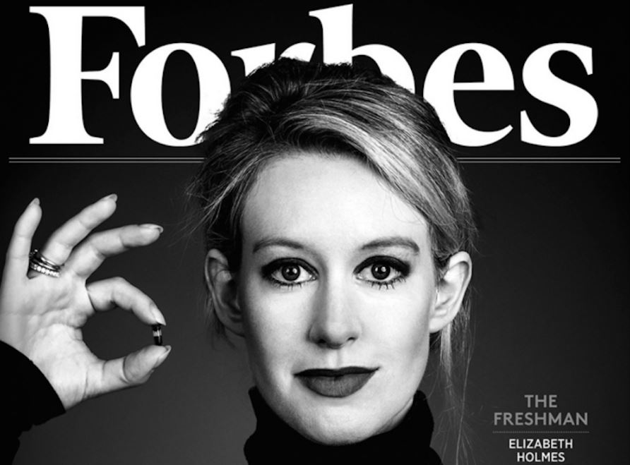 Elizabeth Holmes featured on Forbes
