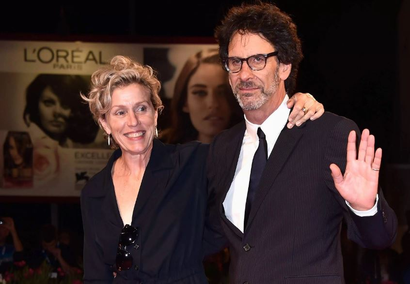 Frances McDormand and her husband Joel Coen