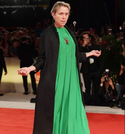 Frances McDormand in a red carpet event