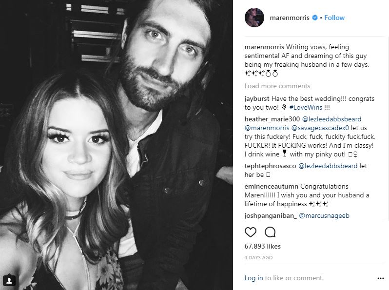 Maren Morris shared picture before wedding