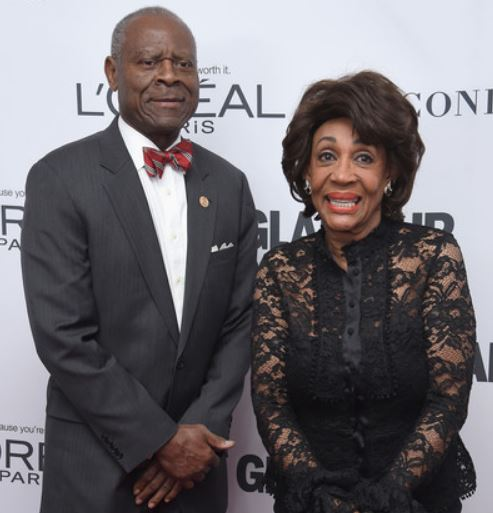 Maxine Waters with her husband Sid Williams