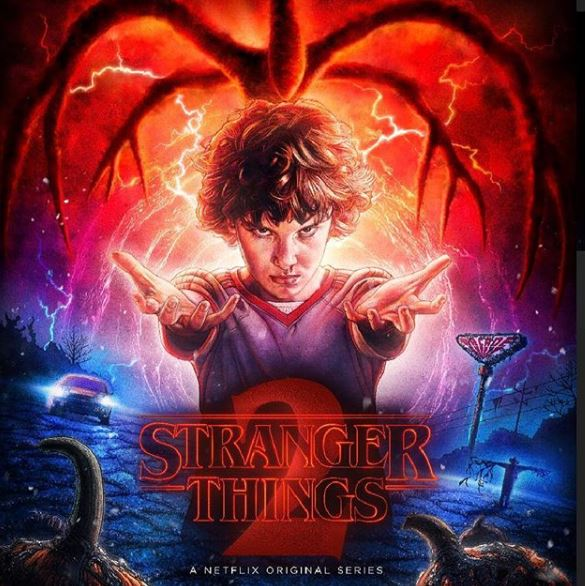 Millie in Stranger Things season 2 poster