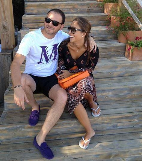 Mina Basaran with her fiance Murat Gezer