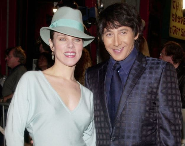 Paul Reubens with his friend Debi Mazar