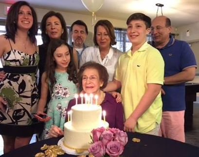 Ron Insana with his family celebrating birthday