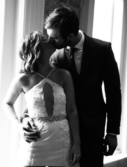 Ryan Hurd shared his wedding day picture