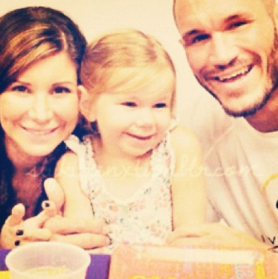 Samantha Speno with her ex-husband Randy Orton and daughter Alanna Marie Orton