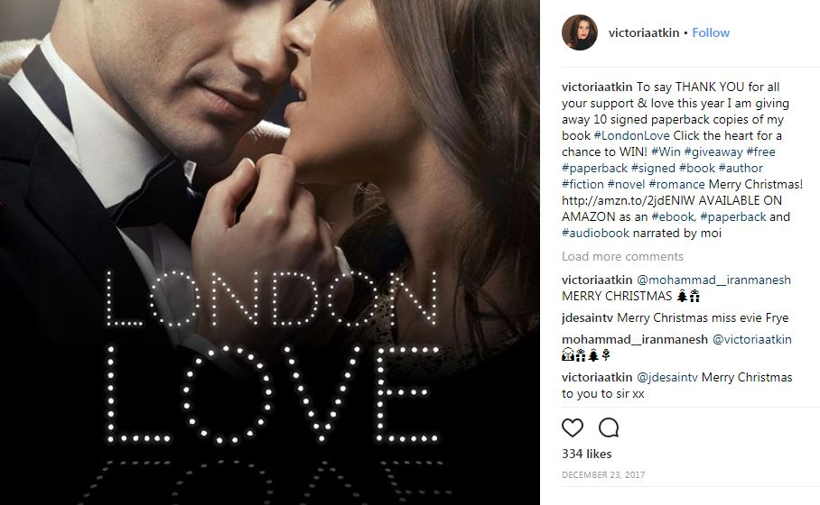 Victoria Atkin has written London Love novel