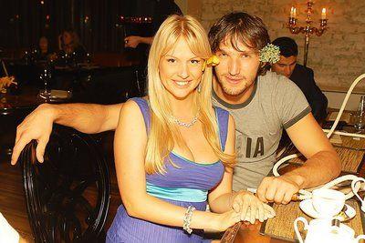 Victoria Lopyreva with her ex-boyfriend, Alexander Ovechkin
