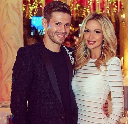 Victoria Lopyreva with her ex-husband, Fyodor Smolov