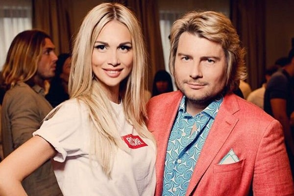 Victoria Lopyreva with her love, Nikolay Baskov