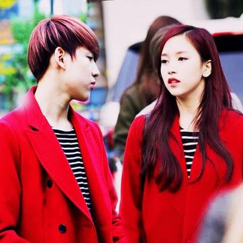 BamBam with his rumored girlfriend Mina