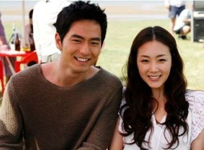 Choi Ji Woo with her ex-boyfriend Lee Jin Wook