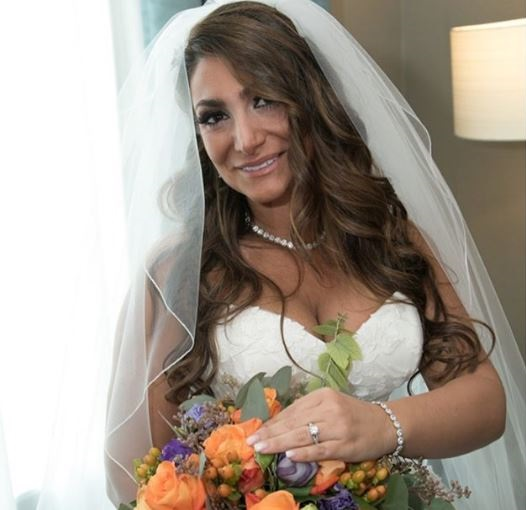 Deena Nicole Cortese on her wedding day