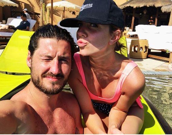 Jenna with her boyfriend, Val Chmerkovskiy