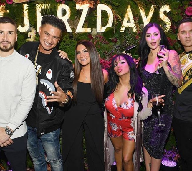 Michael Sorrentino with Jersey Shore Cast Members