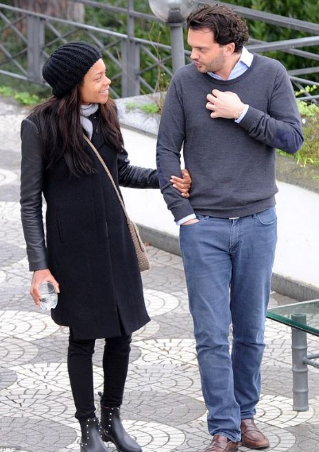 Naomie Harris with her boyfriend Peter Legler
