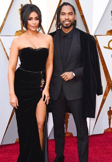 Nazanin Mandi with her fiance Miguel
