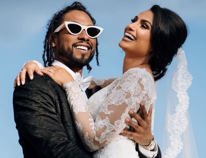 Nazanin with her husband, Miguel on the wedding day