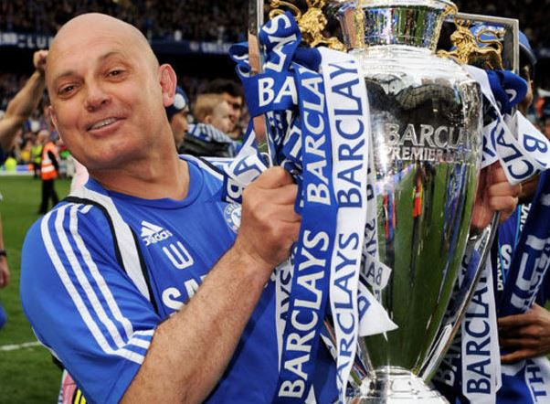 Ray Wilkins with Premier League trophy