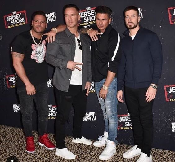 Ronnie Ortiz-Magro with Jersey Shore Male Casts