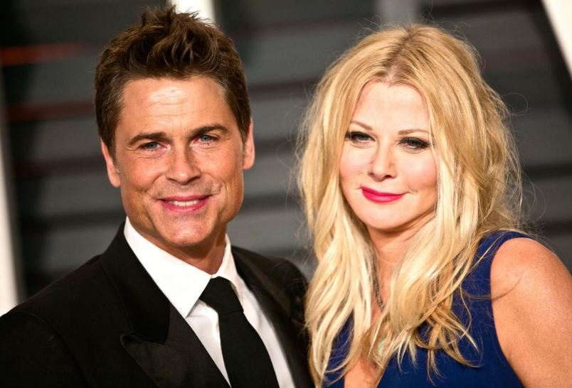Sheryl with her husband, Rob Lowe