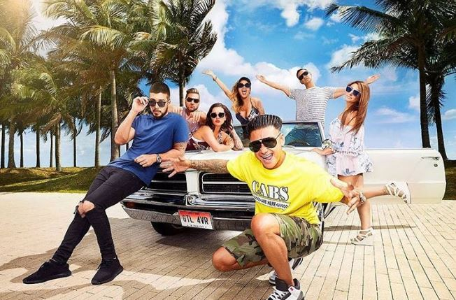 Vinny Guadagnino with Jersey Shore cast members