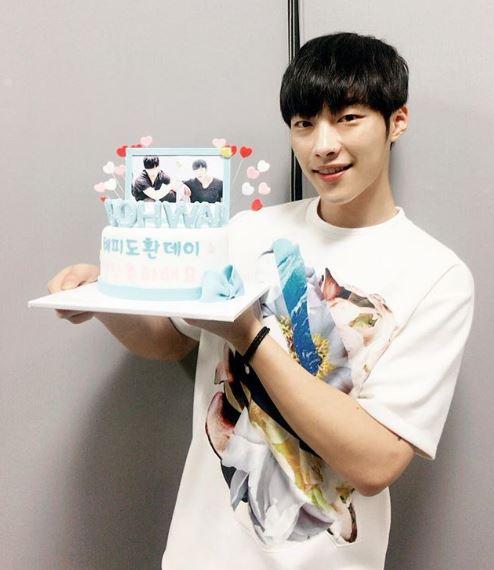 Woo Do Hwan celebrating his birthday in 2017