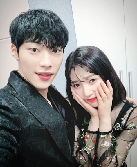 Woo Do Hwan with his co-star Joy